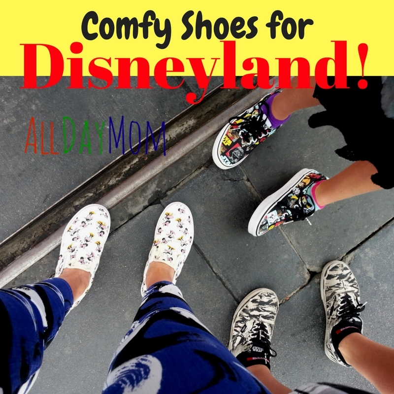 What are the most comfortable shoes for Disneyland? Our favorite comfy shoes for Mom and Dad, boys and girls! Don't let sore feet and blisters ruin your Disneyland vacation!