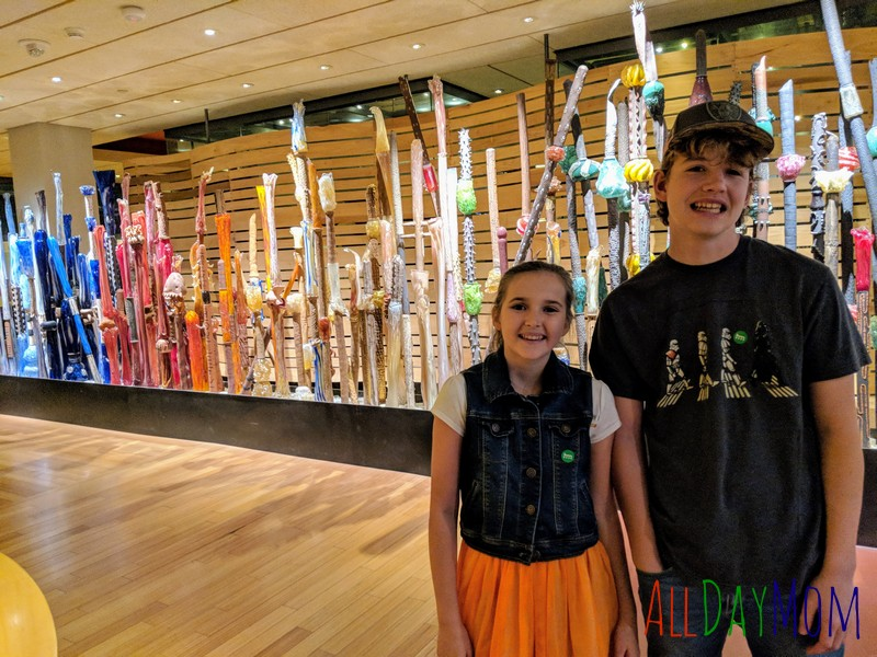 Hamming it up at the Heard Museum with teens & tweens! Things to do in Phoenix with kids — visiting another Phoenix Indian museum is boring — here's how to make it fun! Phoenix homeschool field trip ideas