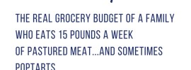 Date night is wrecking my grocery budget! Can you feed your family a clean eating diet and still come in under your grocery budget? Here is my grocery budget tracking for each month in 2018—will I stay under my $600 a month grocery budget? Real grocery budget of a family who eats 15 pounds a week of pastured meat...and sometimes Poptarts. February 1–15 spending.