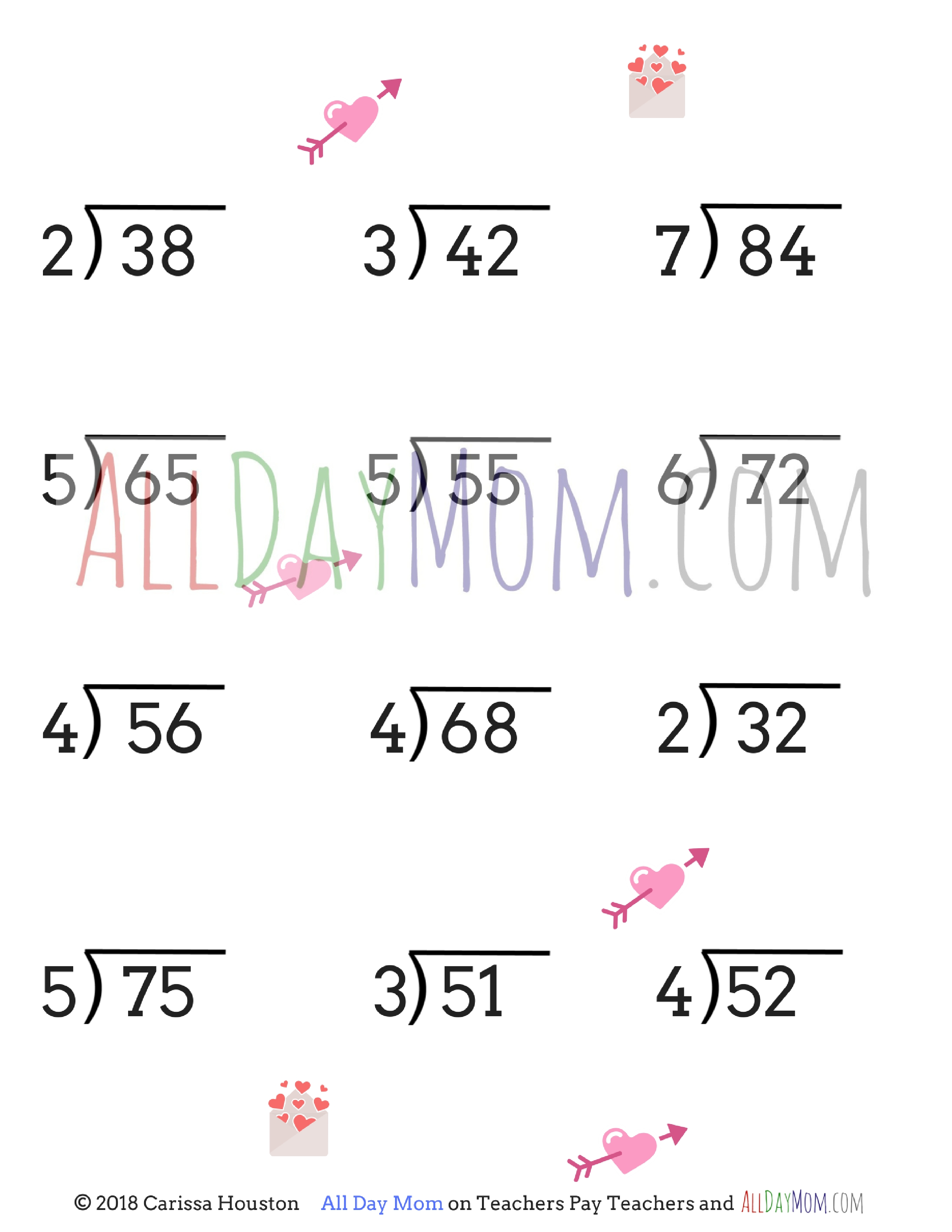 Free Printable Valentine S Day Math Worksheets