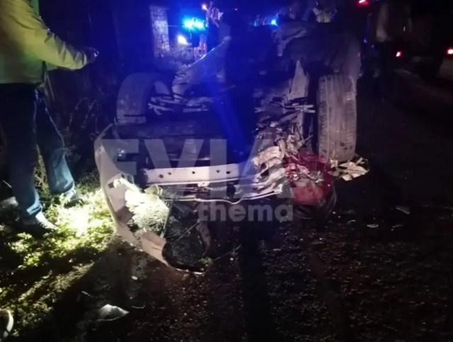 Τραγωδία πριν λίγο: Νεκροί 2 νέοι σε τροχαίο και ενας σοβαρά τραυματίας[photos]