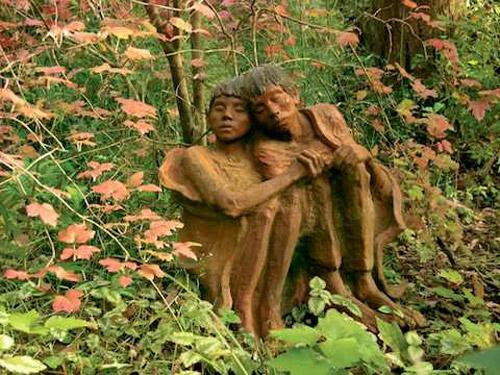Сказочный парк деревянных скульптур. Bruno's Art & Sculpture Garden