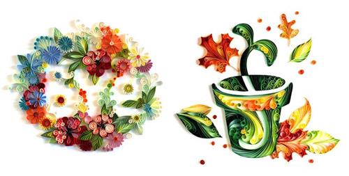 Papergraphic иллюстратора Юлии Бродской. Радуга цветных лент