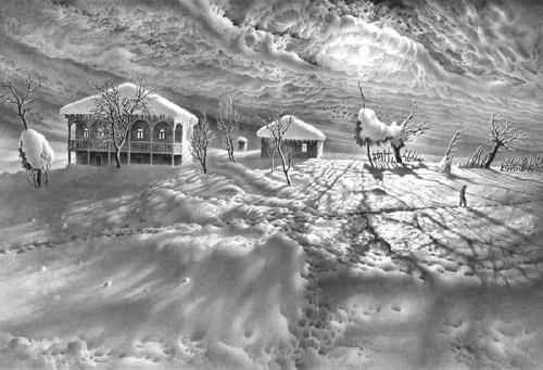 Зимние сонаты художника Гурама Доленджашвили