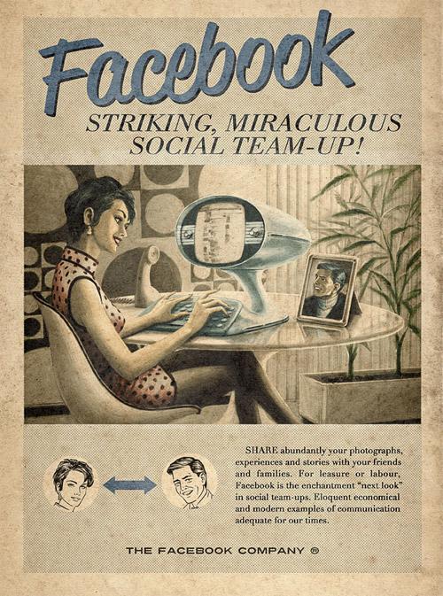 Принты YouTube, Facebook и Skype о чудесах интернет-медиа