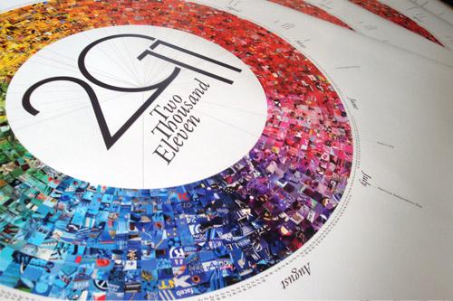 Календарь Pantone 2011. Разноцветное колесо истории на 365 дней