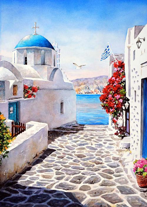 Акварельная Греция. Картины Пантелиса Зографоса