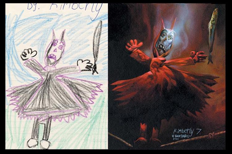 Детские рисунки, перерисованные профессионалом. 17 монструозных фантазий