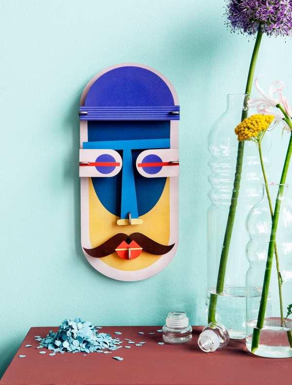 StudioROOF mask wall art