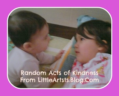 Random Acts of Kindness - Sibling Love - Little Artists on Alldonemonkey