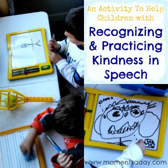 Teaching Kindness {Random Acts of Kindness Series} - Moments A Day on Alldonemonkey.com