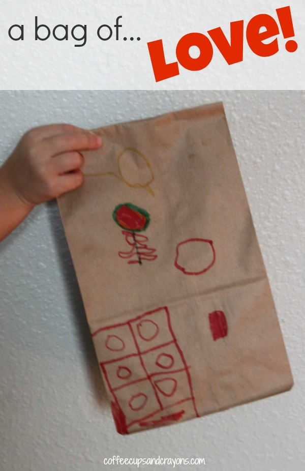 Bag of Love Kindness Activity for Kids: Coffee Cups and Crayons {Random Acts of Kindness}