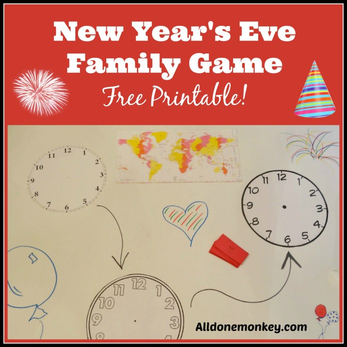 New Year's Eve Family Game - Free Printable!  Alldonemonkey.com