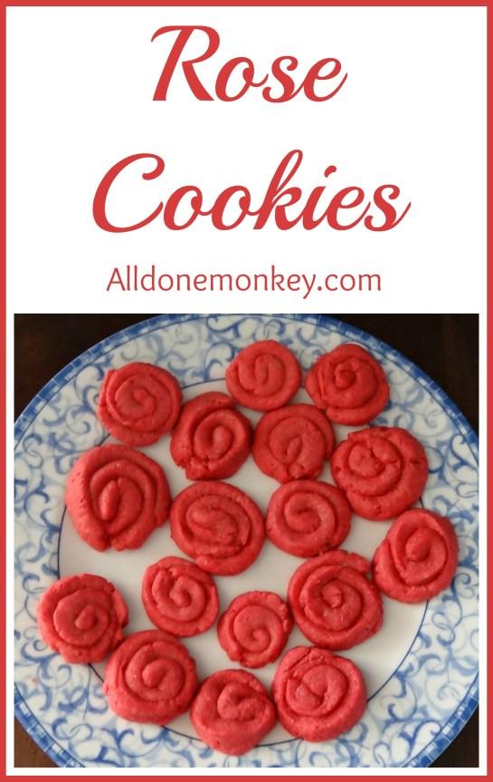 Rose Cookies {Ridvan} - Alldonemonkey.com