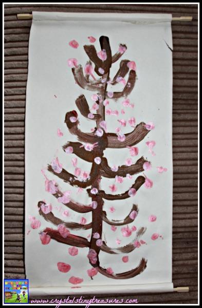 Cherry Blossom Scroll - Crystal's Tiny Treasures