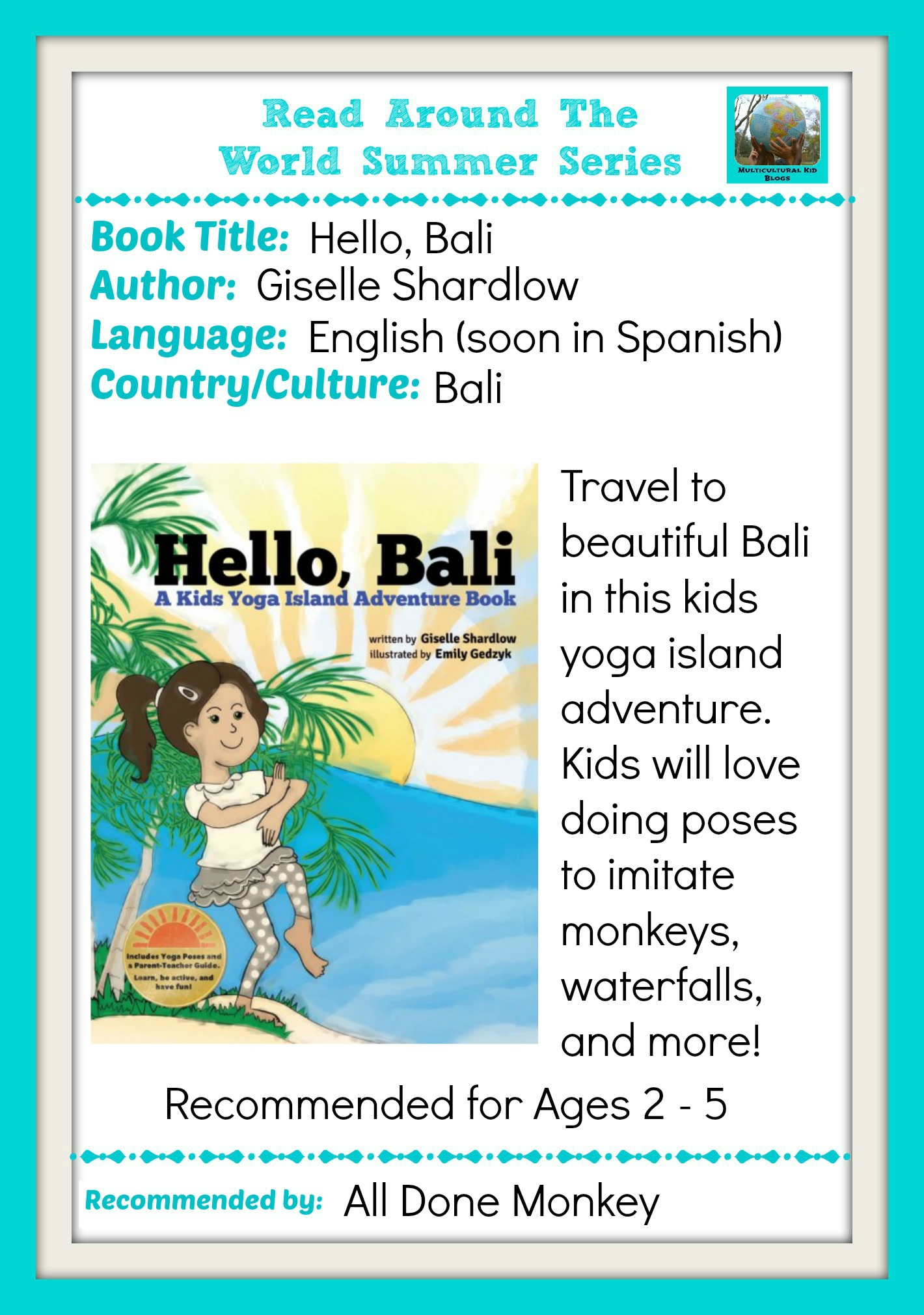 Learn About Bali With A Kids Yoga Island Adventure Book