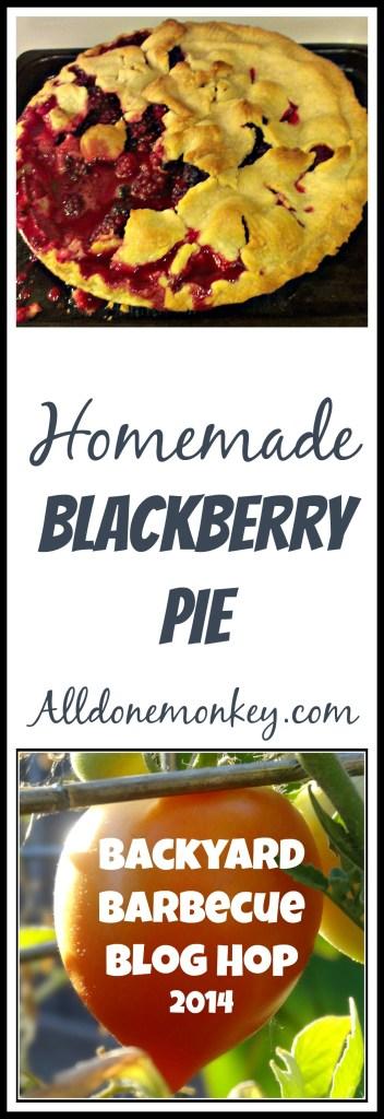 Homemade Blackberry Pie {Backyard Barbecue Blog Hop} - Alldonemonkey.com