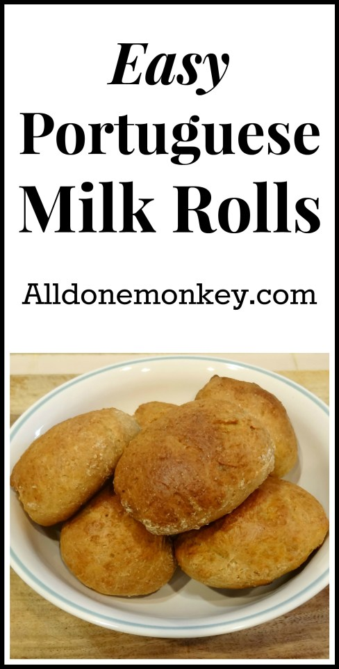 Easy Portuguse Milk Rolls {Around the World in 12 Dishes} - Alldonemonkey.com