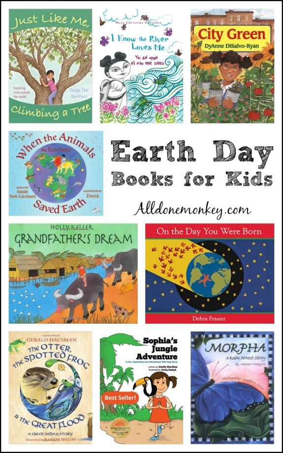Earth Day Books for Kids | Alldonemonkey.com