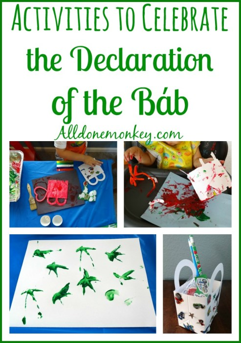 Activities to Celebrate the Declaration of the Bab | Alldonemonkey.com