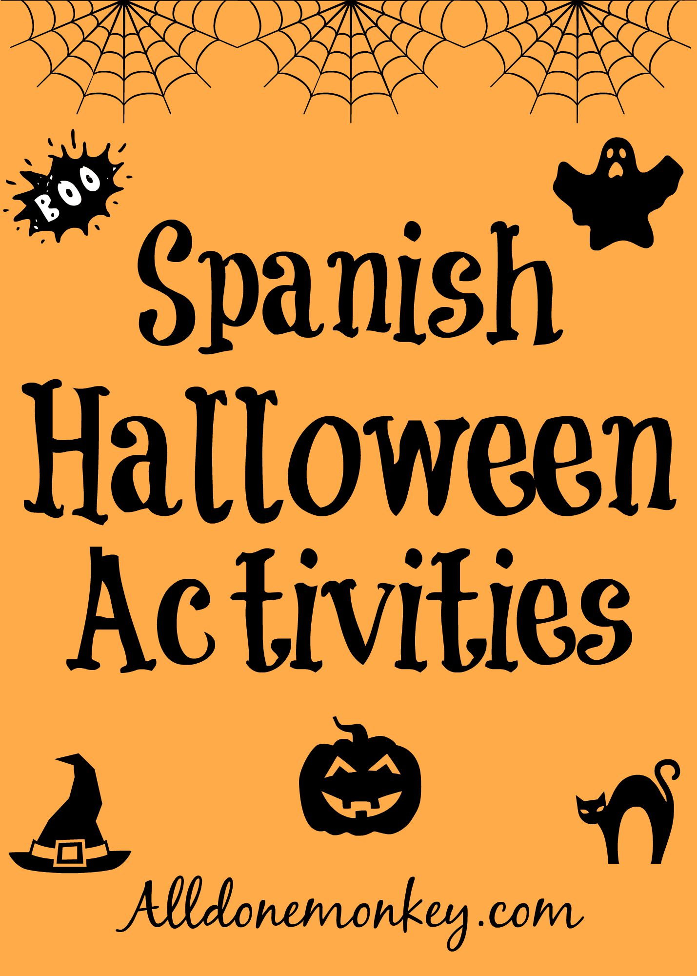 I am always on the lookout for fun activities I can do with my kids to  learn Spanish, and what is more fun this time of year than Halloween?