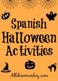 printable spanish halloween worksheets
