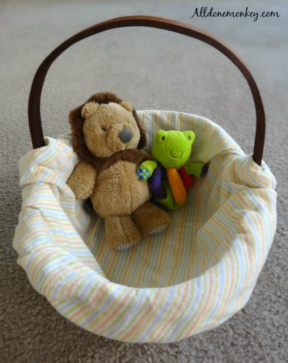DIY Easter Basket for Baby | Alldonemonkey.com