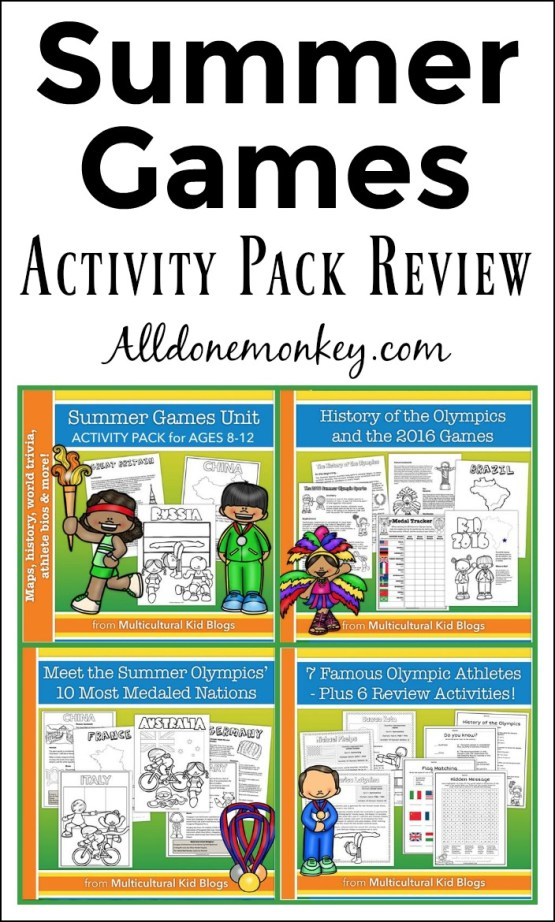 Summer Games Activity Pack Review   Alldonemonkey.com