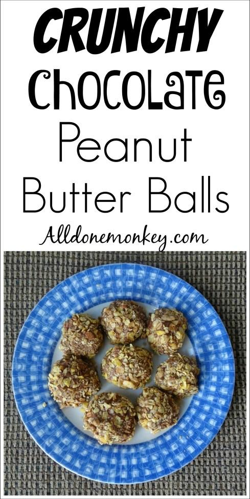 Crunchy Chocolate Peanut Butter Balls | Alldonemonkey.com