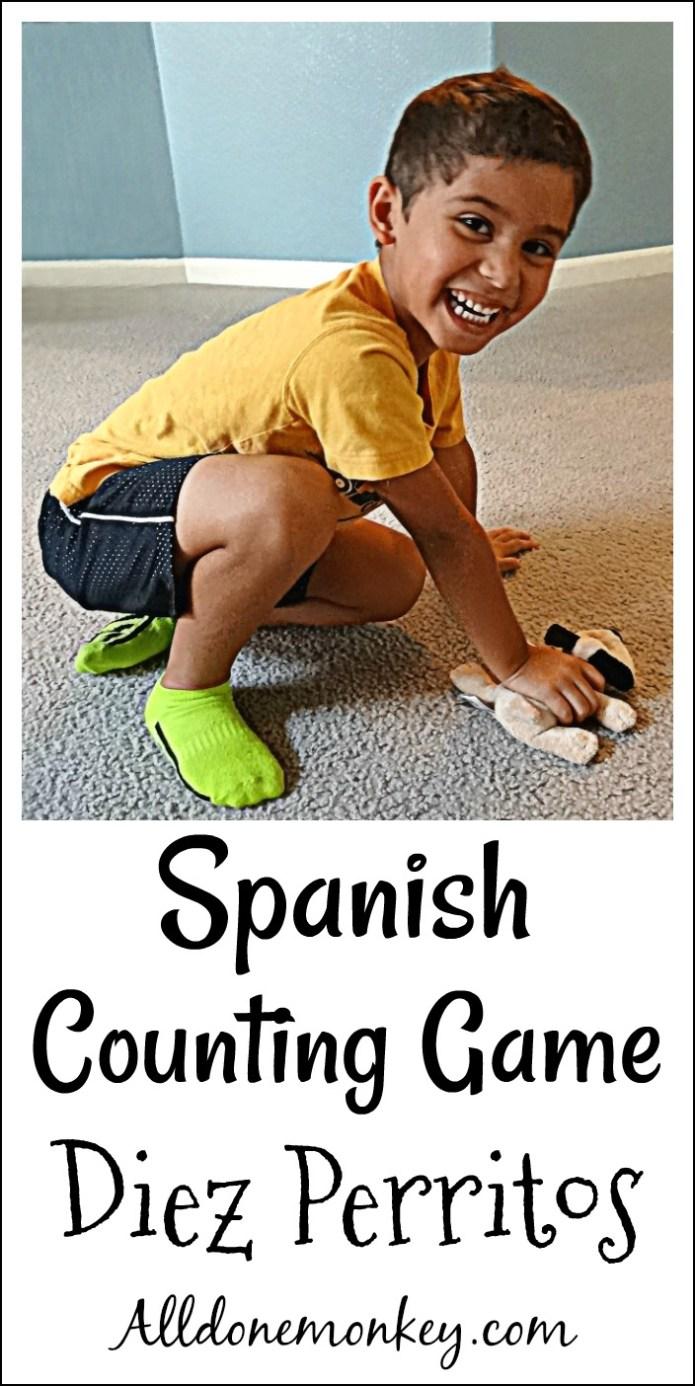 Spanish Counting Game: Diez Perritos | Alldonemonkey.com