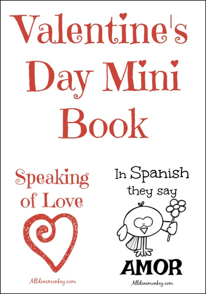 Valentine's Day Mini Book: Speaking of Love | Alldonemonkey.com