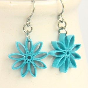 Turquoise Nine Pointed Star Earrings