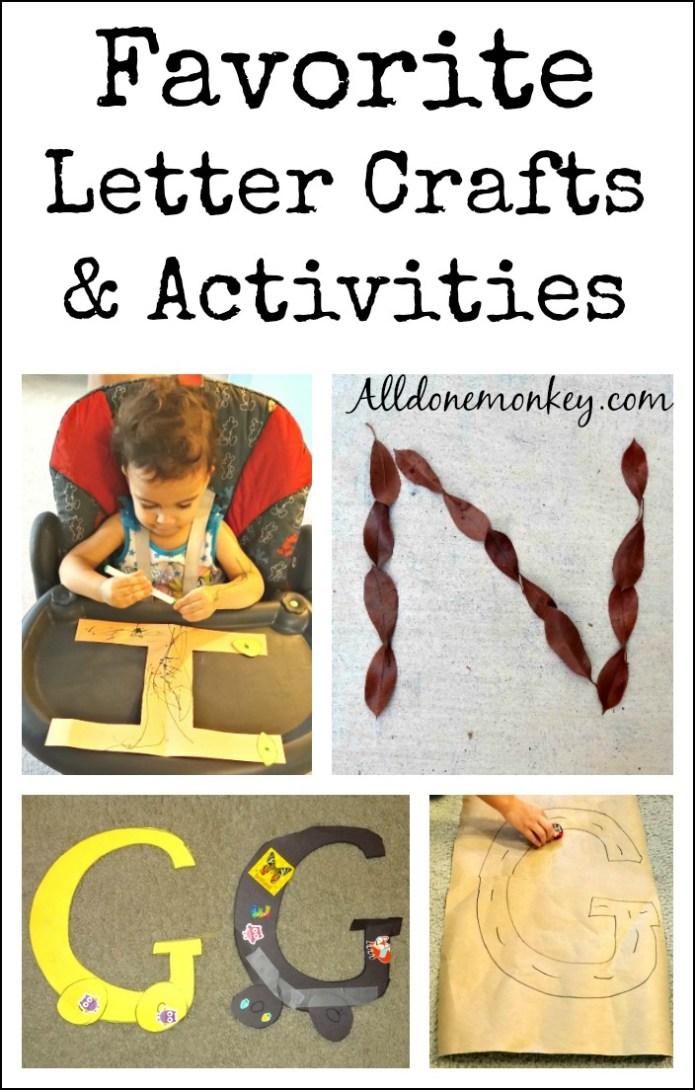 Favorite Letter Crafts and Activities | Alldonemonkey.com