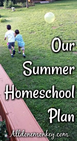 Our Summer Homeschool Plan