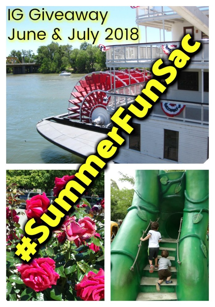 Sacramento Summer Fun Instagram Challenge June & July 2018 #SummerFunSac