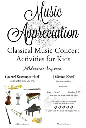 Music Appreciation: Classical Music Concert Activities for Kids