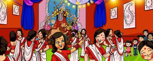 Learn About Durga Puja with a Picture Book and Crafts | Alldonemonkey.com