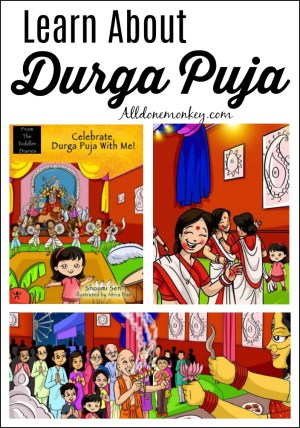 Learn About Durga Puja with a Picture Book and Crafts