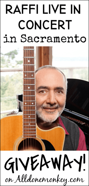 Raffi Live in Concert in Sacramento: Giveaway!