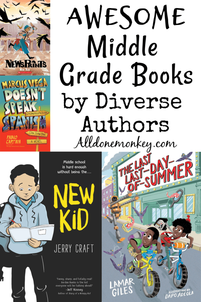 Awesome Middle Grade Books by Diverse Authors | Alldonemonkey.com