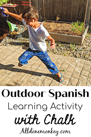 Outdoor Spanish Learning Activity with Chalk