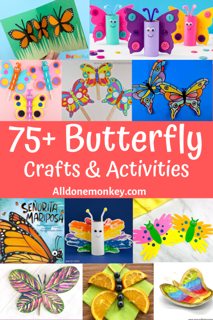 75+ Butterfly Crafts and Activities for Kids | Alldonemonkey.com