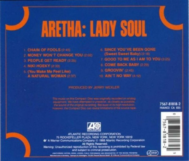 aretha franklin lady soul back