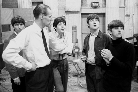 beatles and george martin 1963