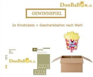 Gewinne Kinoeintritte und einen Ballon