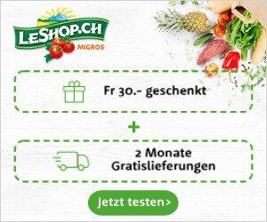 LeShop Gutschein und Lieferung gratis erhalten