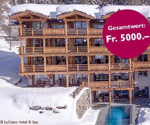 Übernachtungen in Junior Suite des LeCrans Hotel & Spa gewinnen