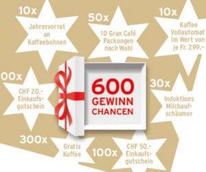 Einkaufsgutscheine, Kaffeemaschinen und mehr von Tchibo gewinnen