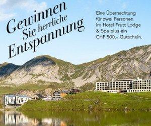 Wellness-Wochenende im Hotel Frutt Lodge & Spa gewinnen
