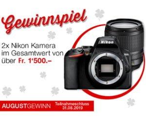 Nikon-Spiegelreflexkamera und Bargeld gewinnen